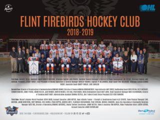 Flint Firebirds Team Picture Poster 2018 2019