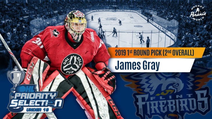 James Gray Flint Firebirds Hockey