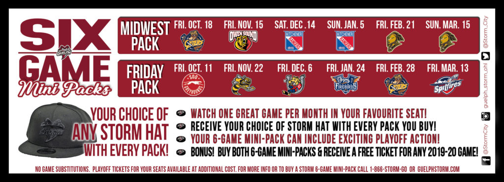 One game per month... free hat with every Pack!