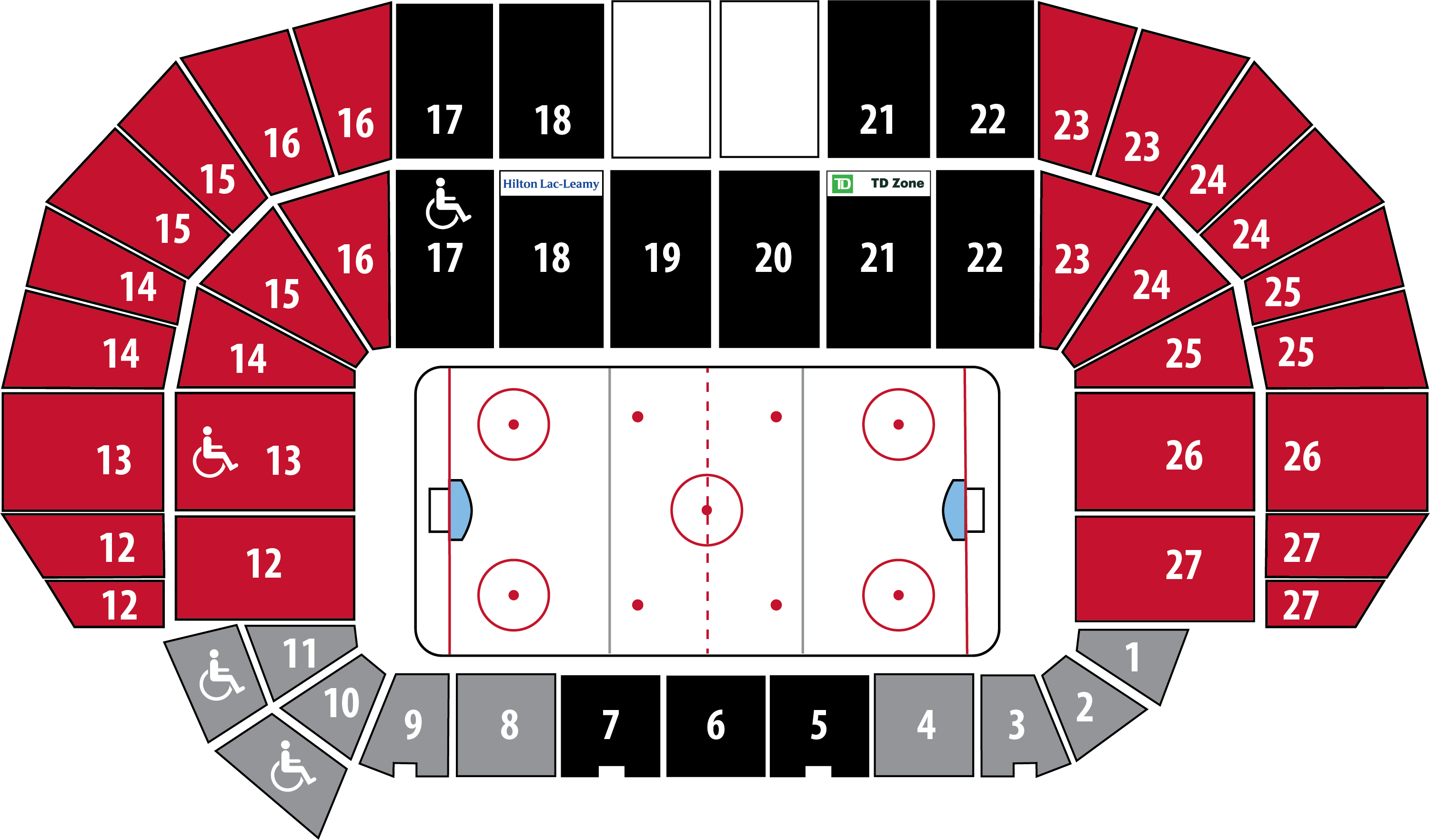 Round 4 ticket seating chart