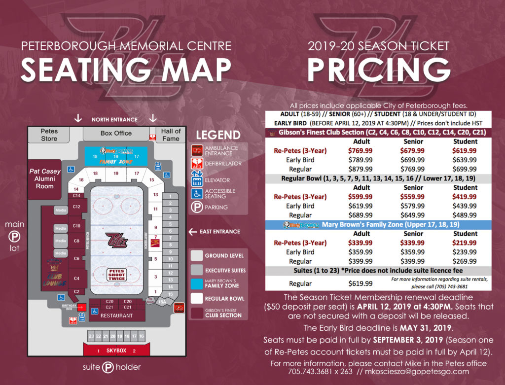 4 & 5 - 2019-20 Season Ticket Book Seating Map