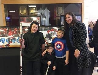 Steve's nephews, son Morrison and sister Lindsay