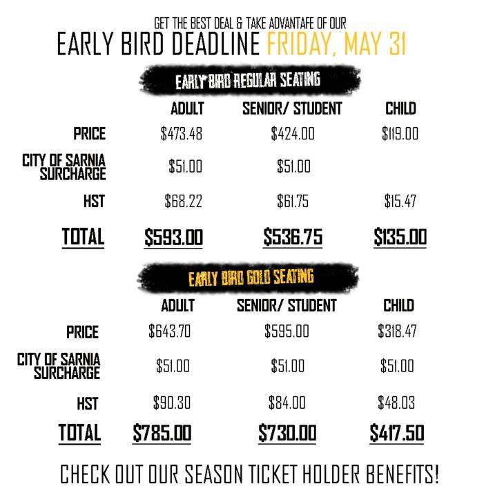 Season Ticket Prices - EB