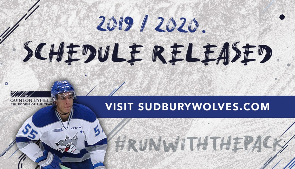 2019 2020 Wolves Schedule Released Sudbury Wolves