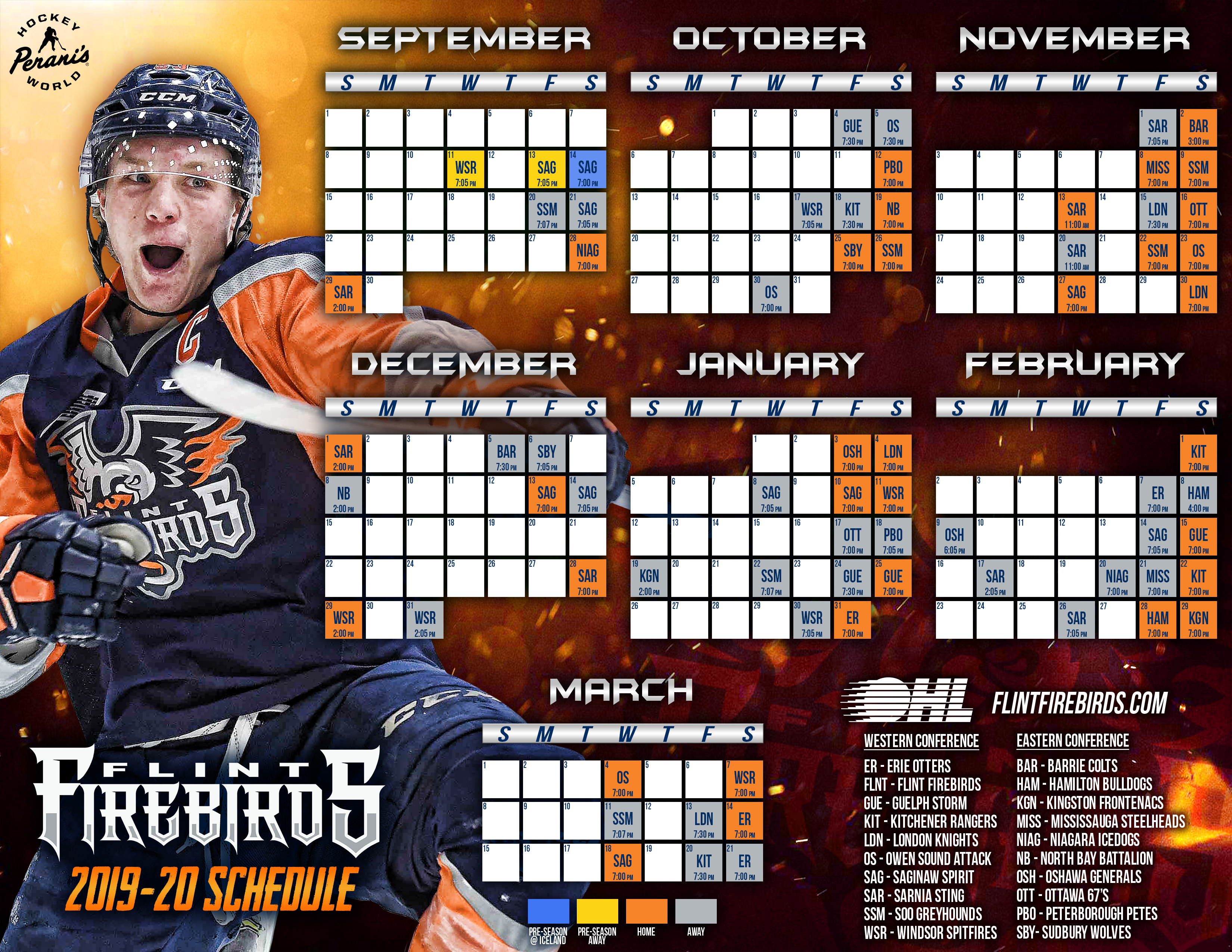 Record 19 Saturday Nights Highlight Firebirds 2019 20 Ohl Schedule