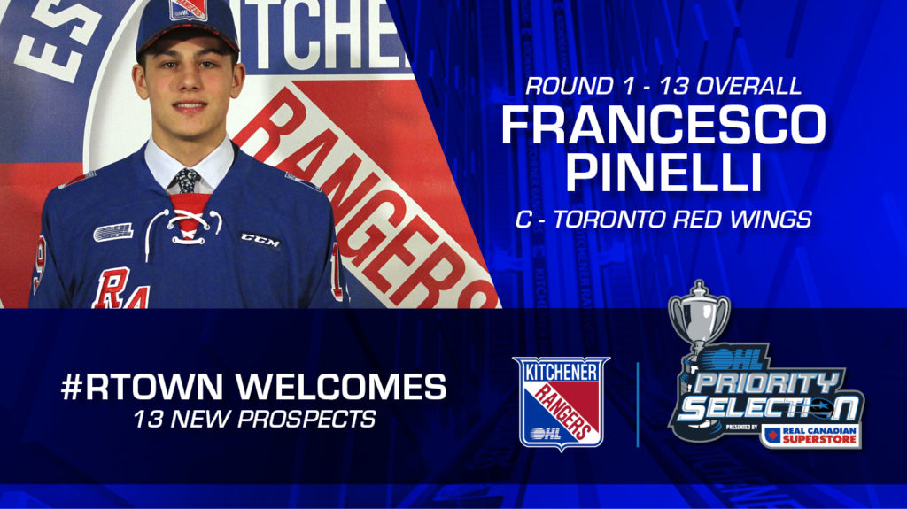 c28451b8d74 Rangers Select 13 in OHL Draft – Kitchener Rangers