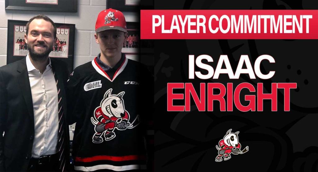 af45b8e1848 First-Round Selection Isaac Enright Commits to IceDogs – Niagara IceDogs