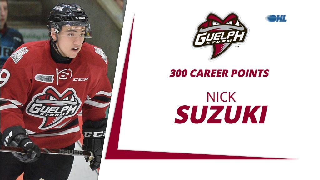 Storm s Suzuki records 300th career point – Ontario Hockey League 1f5f5d87ff94