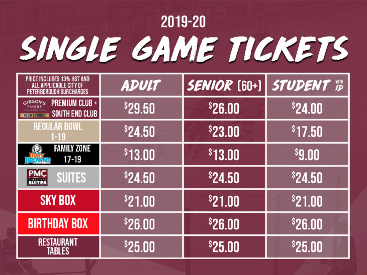 2019-20 Single Game Tickets - 4x3